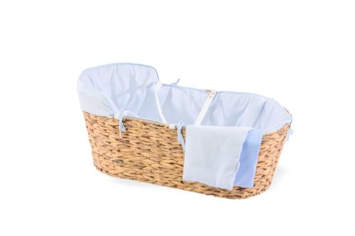 Hyacinth Moses Basket - Cotton Dream Blue
